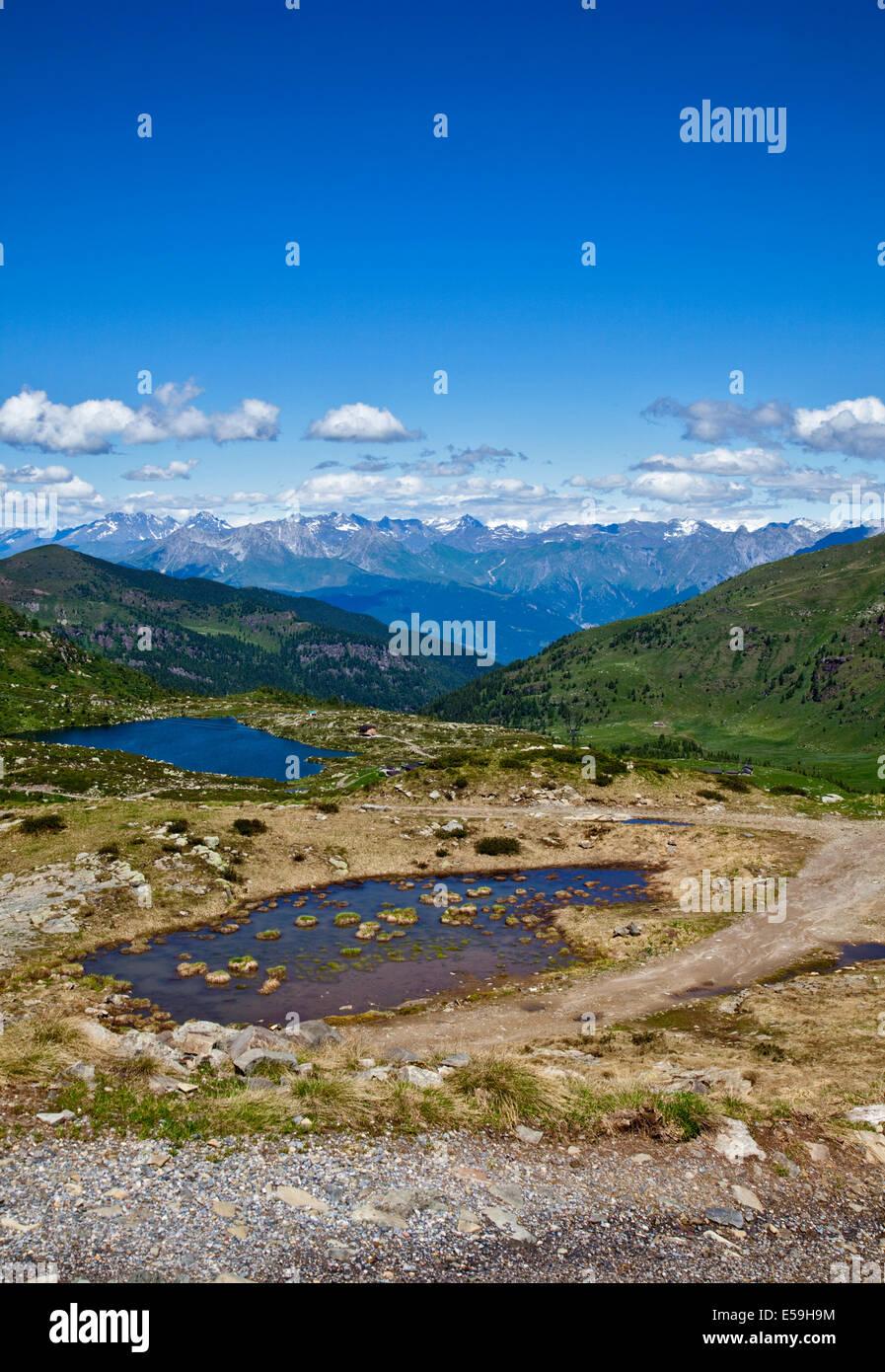 Laghetto di Dasdana/Lake Dasdana from Dasdana Pass, near Bagolino, Italy - Stock Image
