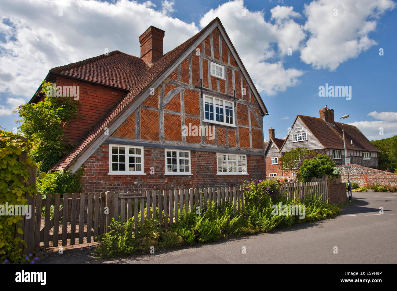 Cottages, East Meon, Hampshire, England - Stock Image