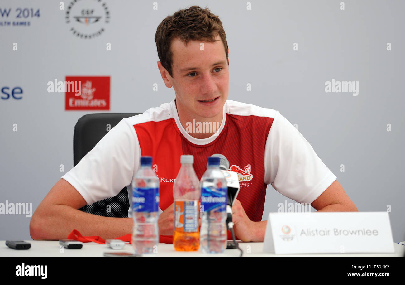 ALISTAIR BROWNLEE ENGLAND STRATHCLYDE COUNTRY PARK GLASGOW SCOTLAND 24 July 2014 - Stock Image
