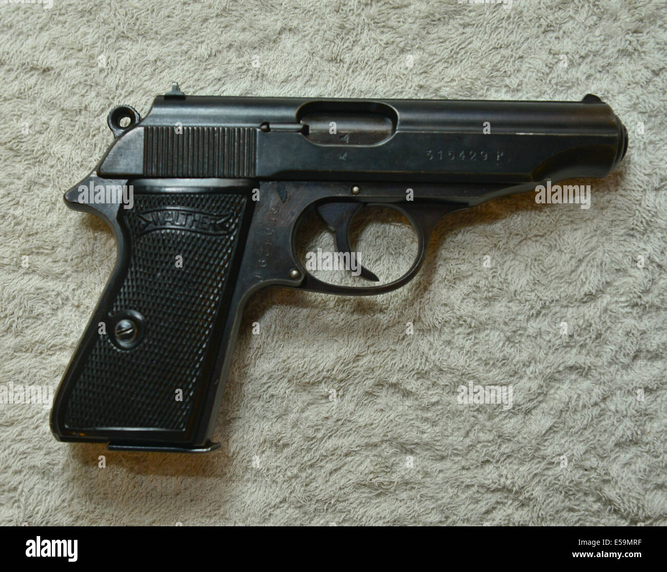 Picture By:Jules Annan Picture Shows:Nazi SS and Police  issued Walther PPK 7.65 calibre  pistols Date ; 08/07/2014 - Stock Image