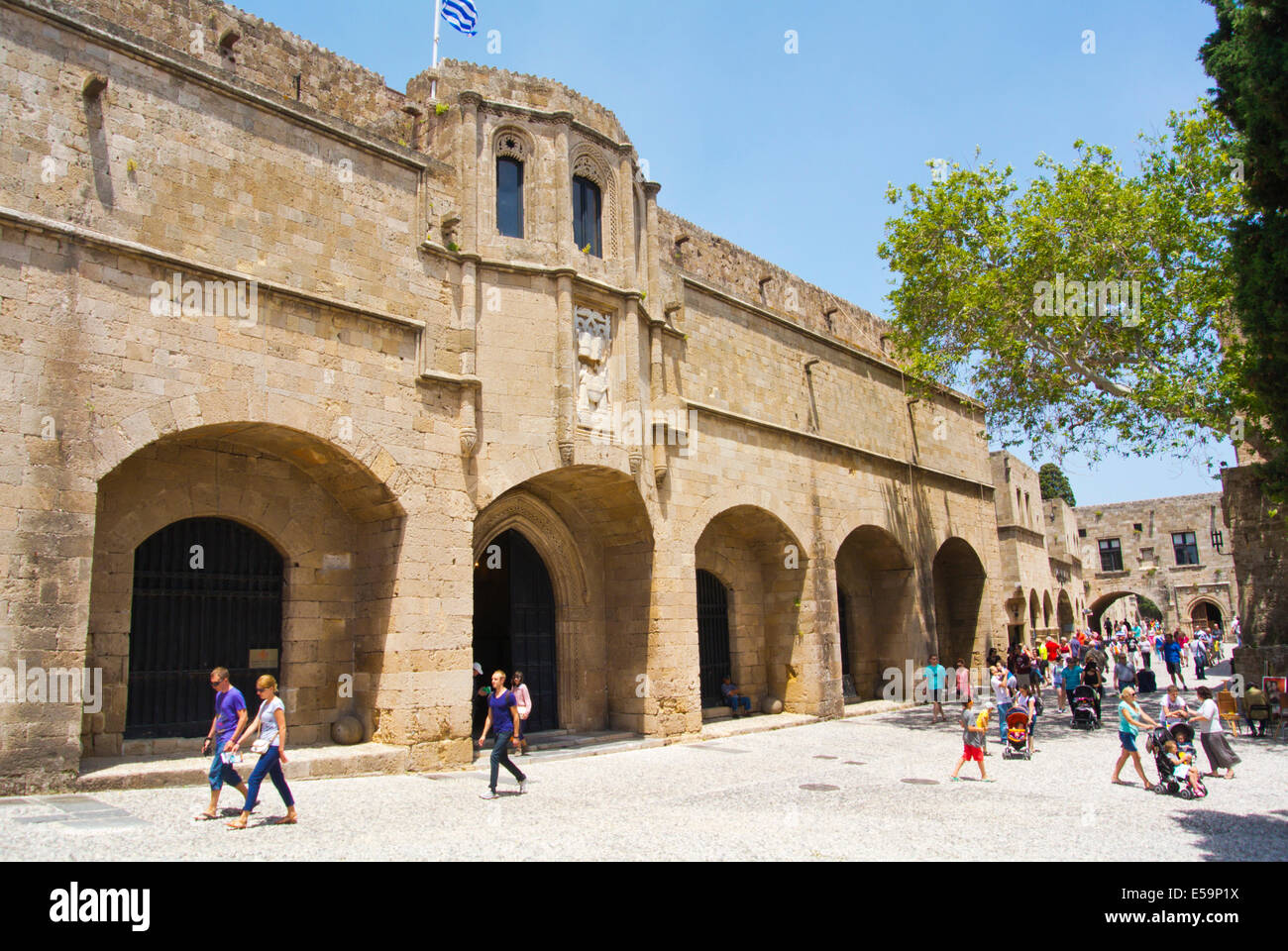 Archeology museum, Apellou street, old town, Rhodes town, Rhodes island, Dodecanese islands, Greece, Europe - Stock Image