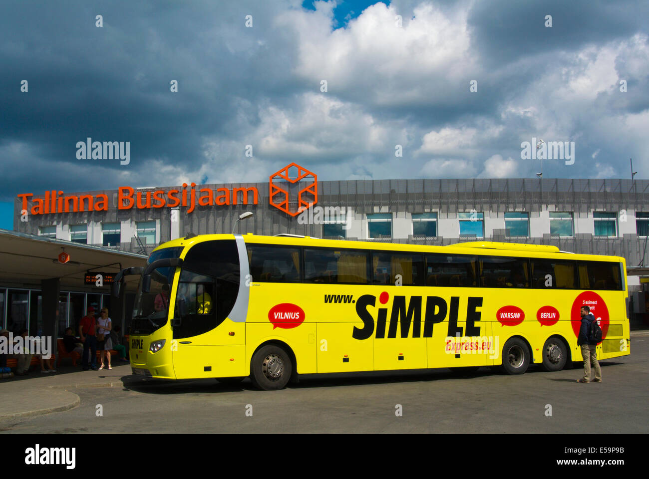 Simple Express Bus Long Distance Bus Station Tallinn Estonia