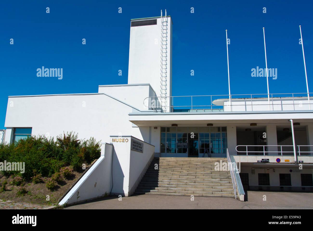 Urheilumuseo, Sports museum, Olympiastadion, the Olympic Stadium, Taka-Töölö district, central Helsinki, - Stock Image