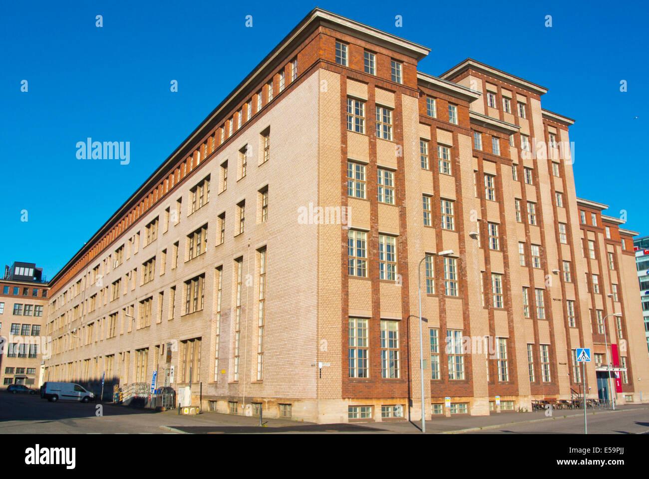 Kaapelitehdas, Cable factory, converted industrial complex, Salmisaari, Ruoholahti, Helsinki, Finland, Europe - Stock Image