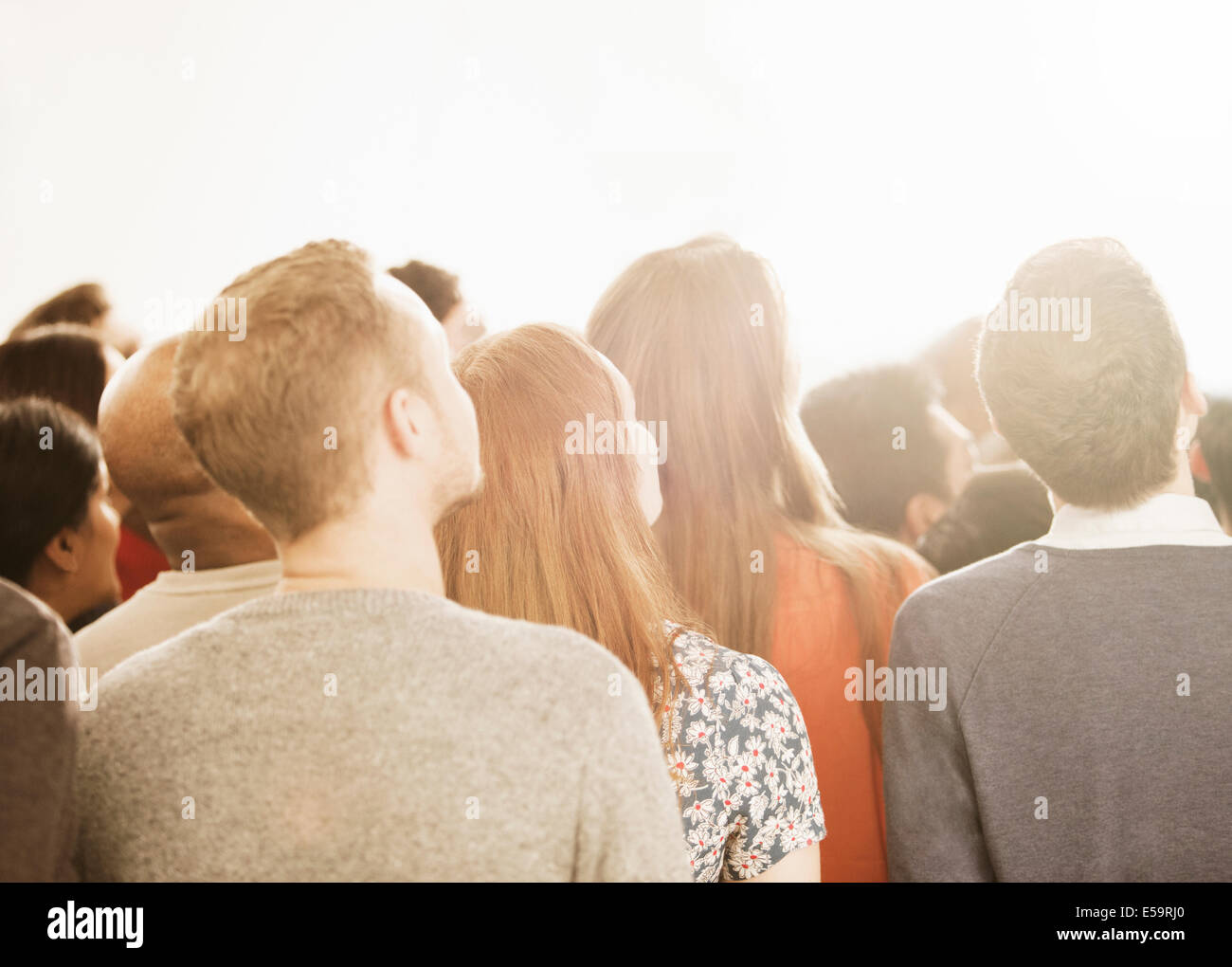 Business people looking up - Stock Image