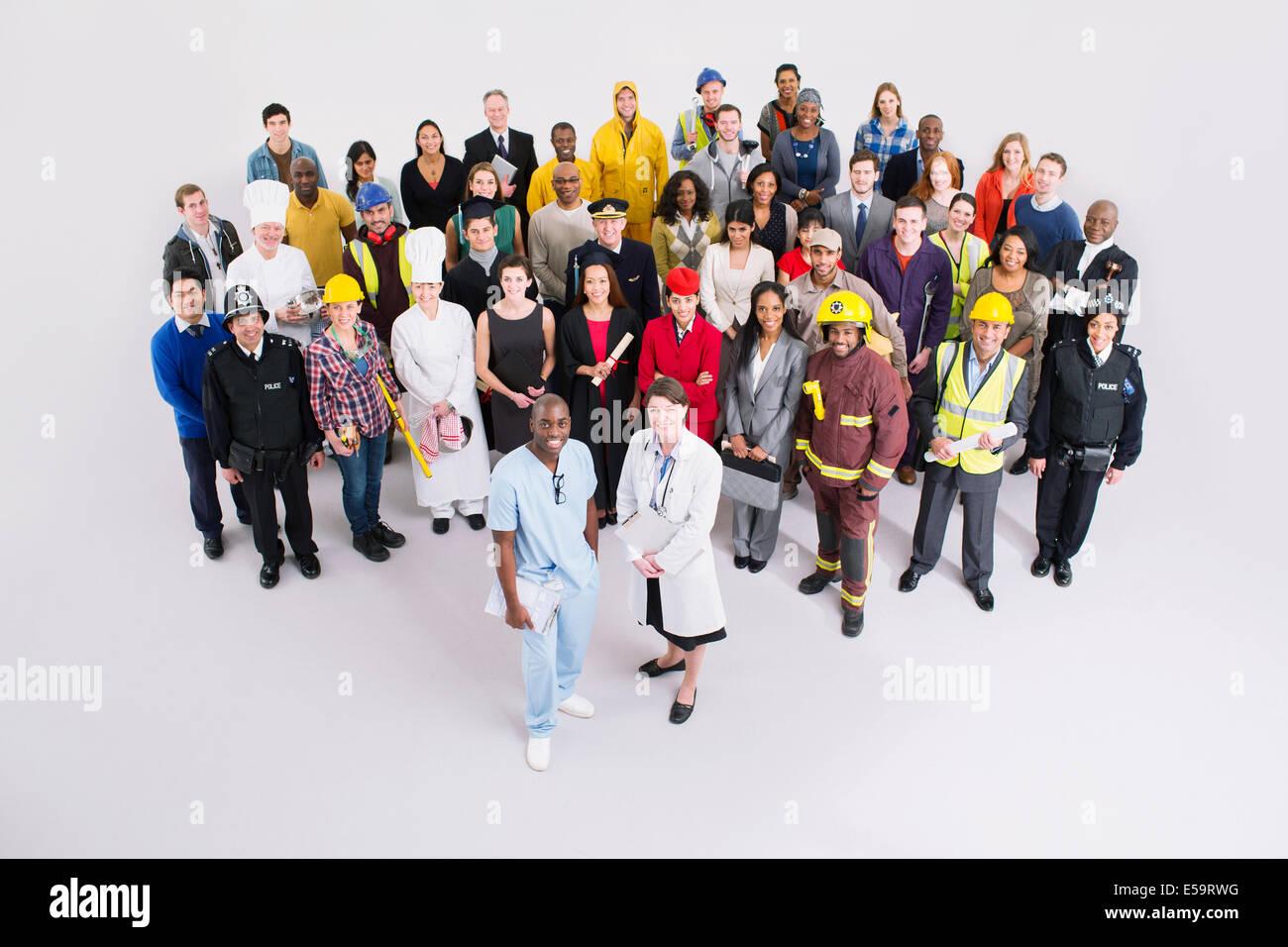 Portrait of confident workforce - Stock Image