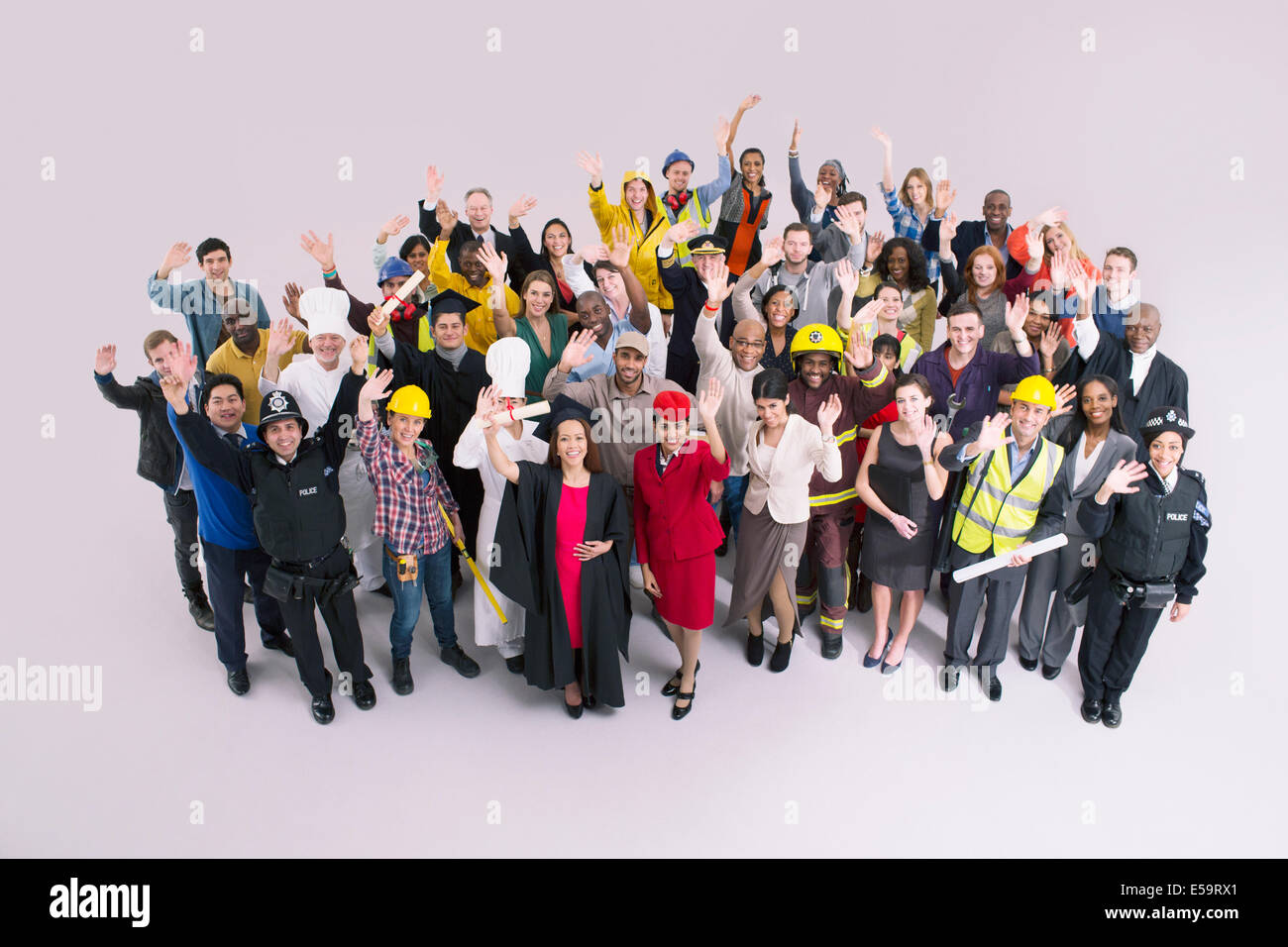 Portrait of diverse workforce - Stock Image