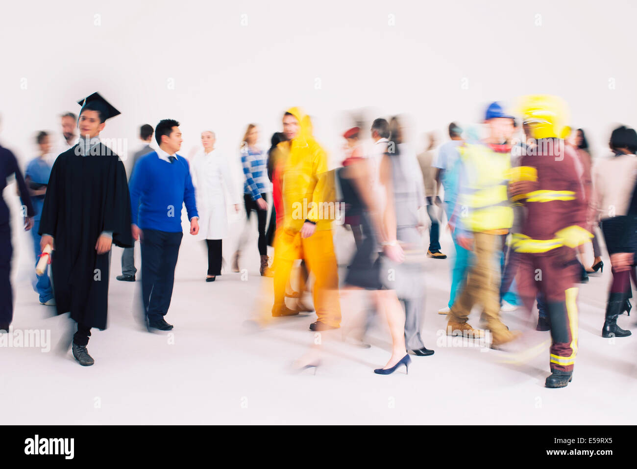 Workforce on the move - Stock Image