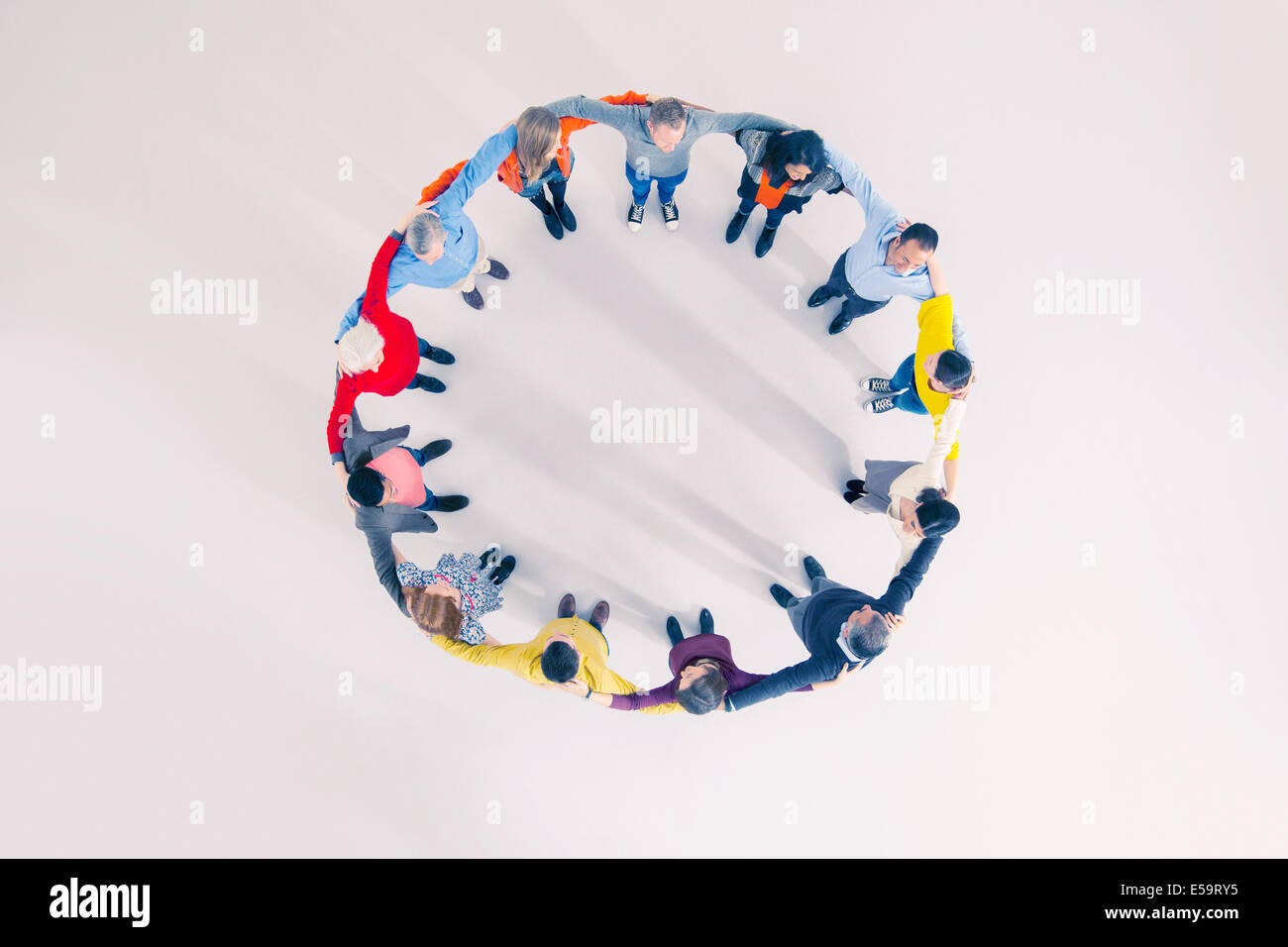 Business people in circle Stock Photo