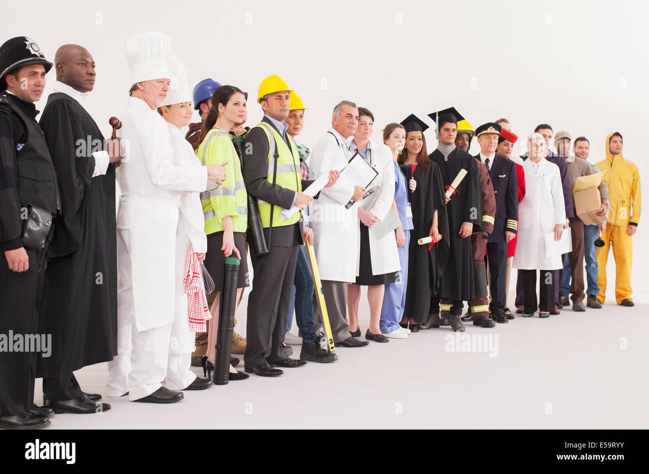 Diverse workforce - Stock Image