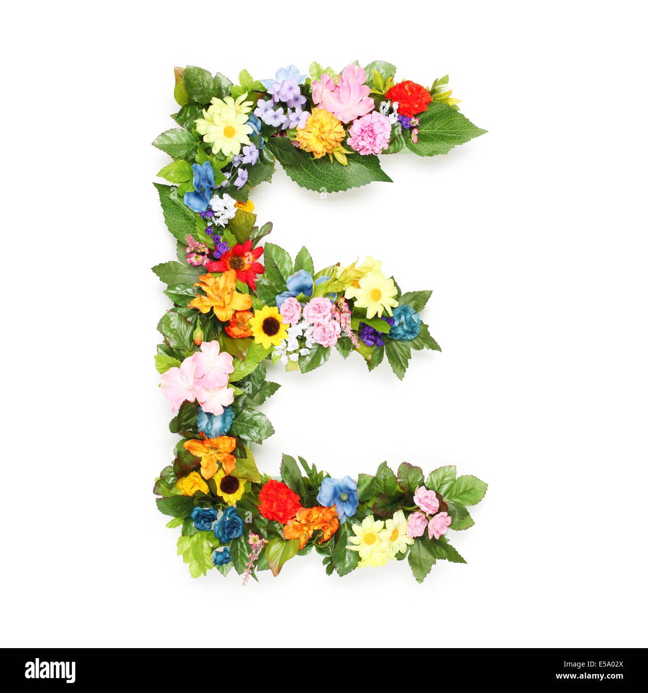 Vector Spring Alphabet Flowers Letters E Stock Photos Vector