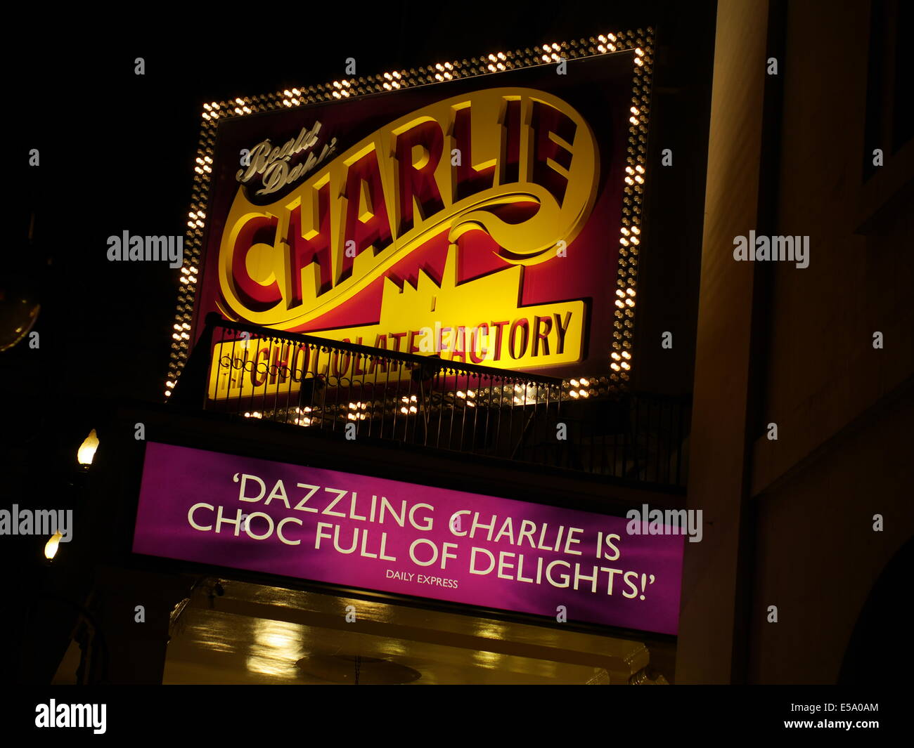 Charlie and the Chocolate factory, The Theatre Royal, Drury Lane, - Stock Image