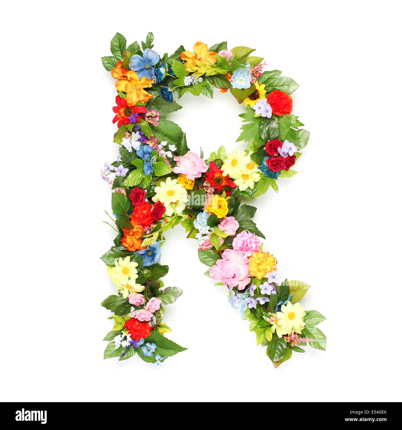 Vector spring alphabet flowers letters r stock photos vector letters made of leaves and flowers stock image altavistaventures Choice Image