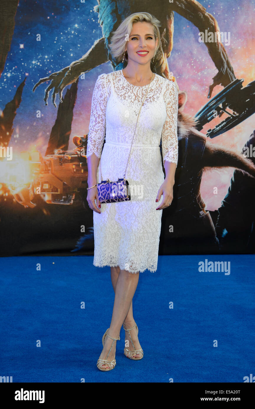Elsa Pataky arrives for the European Premiere of Guardians Of The Galaxy. - Stock Image