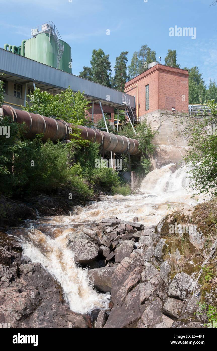 Kyröskoski rapids Stock Photo