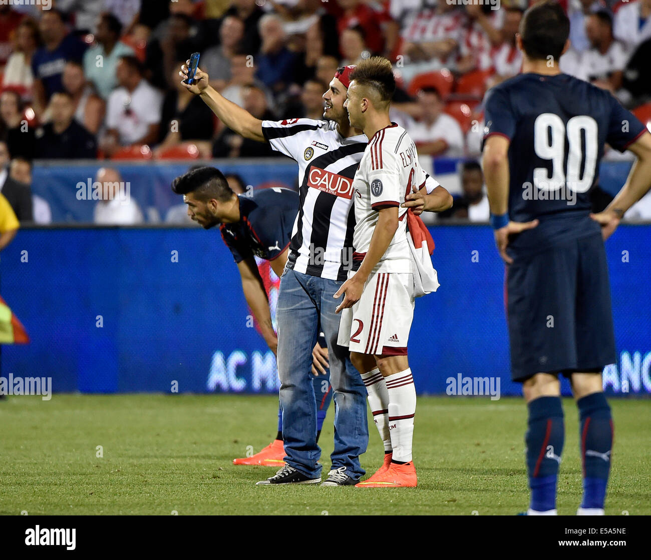 International Champions Cup Milan Vs Barcelona: Ac Milan Fans Stock Photos & Ac Milan Fans Stock Images