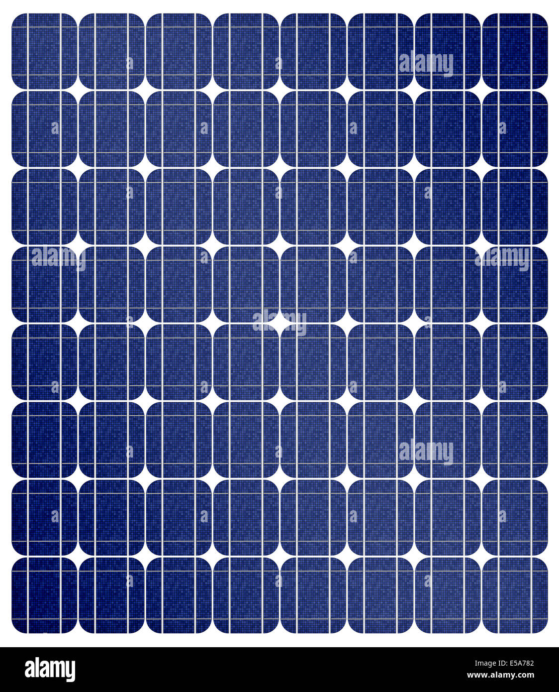 Renewable energy, illustration of a solar cell panels - Stock Image