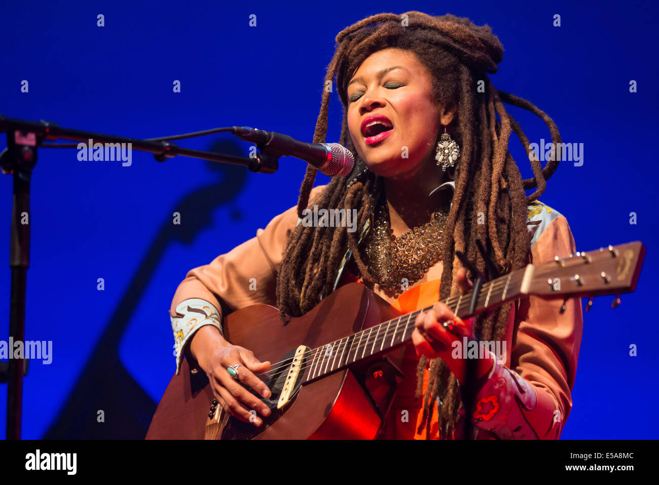 The American singer-songwriter Valerie June, performing live at the Blue Balls Festival, Lucerne, Switzerland - Stock Image