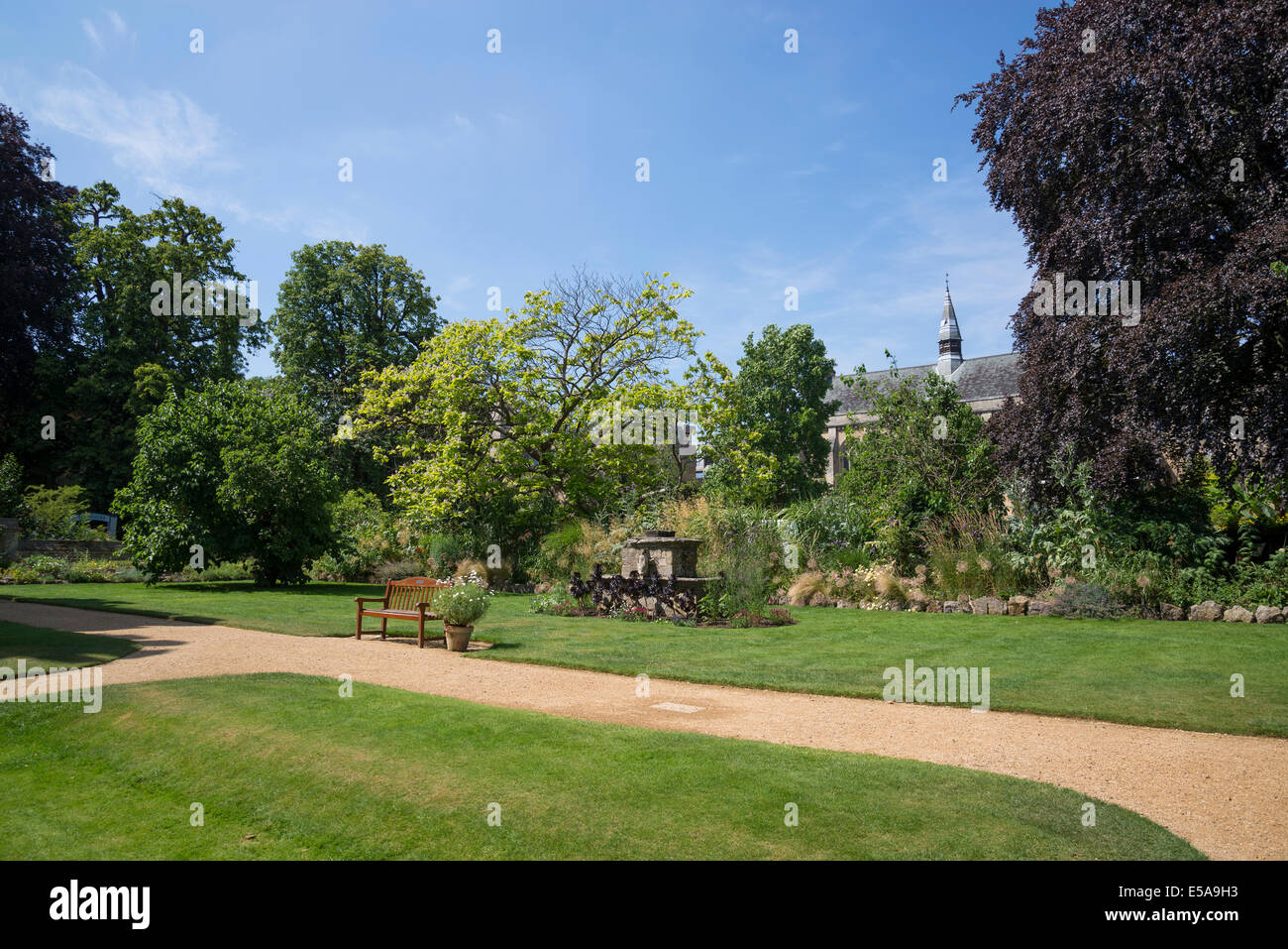 Fellows' Garden, Balliol College, Oxford, England, UK - Stock Image