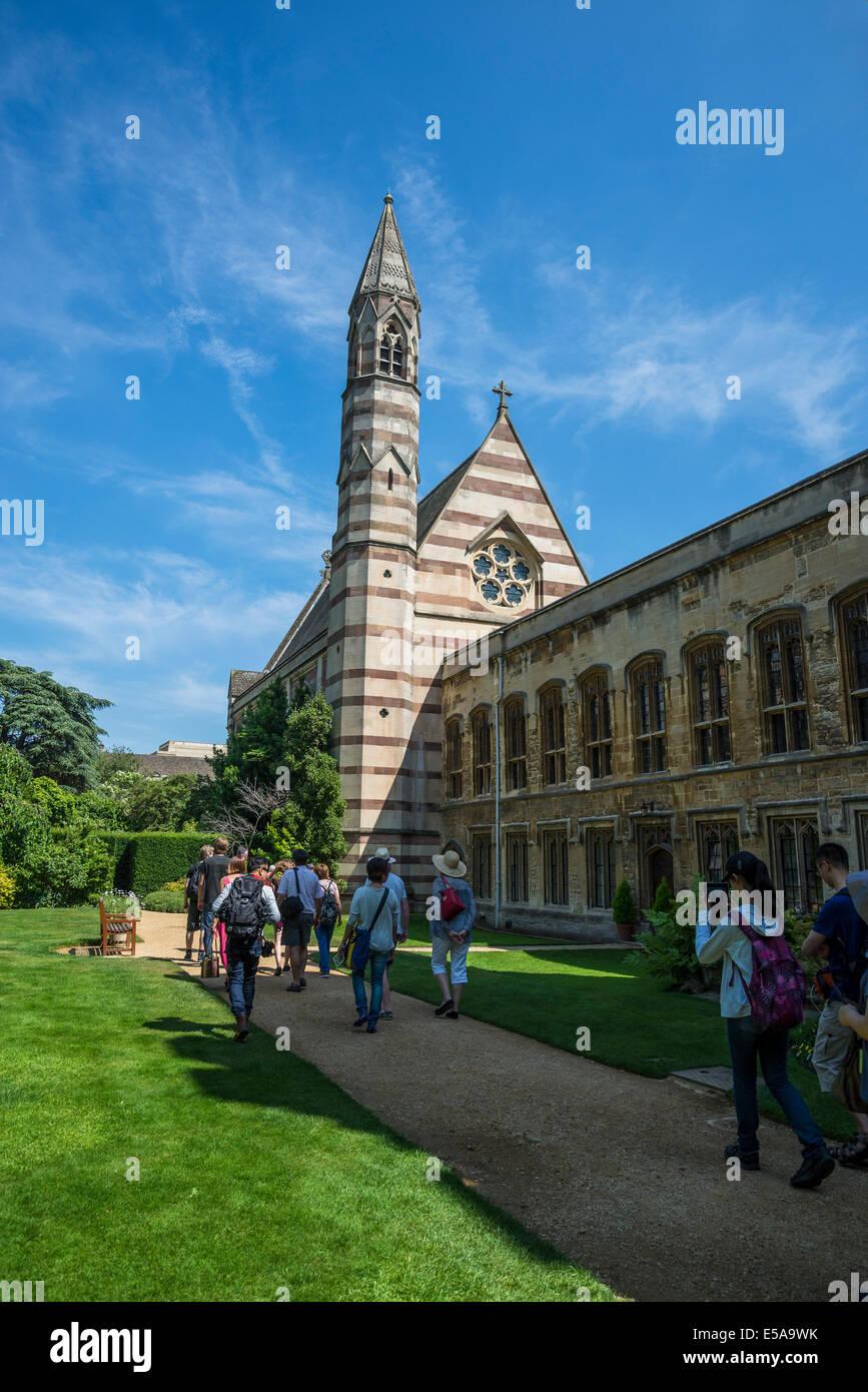Chapel from the Fellows' Garden, Balliol College, Oxford, England, UK - Stock Image