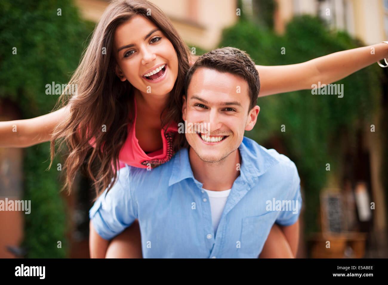 Portrait of couple, love, Debica, Poland - Stock Image