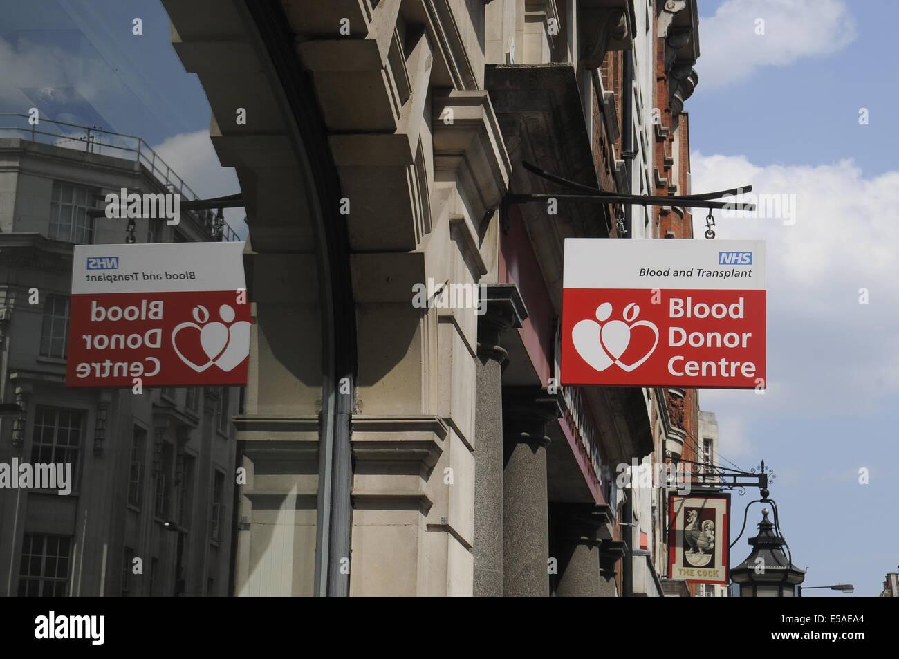 Blood Donor Centre,Margaret Street,London.UK Stock Photo