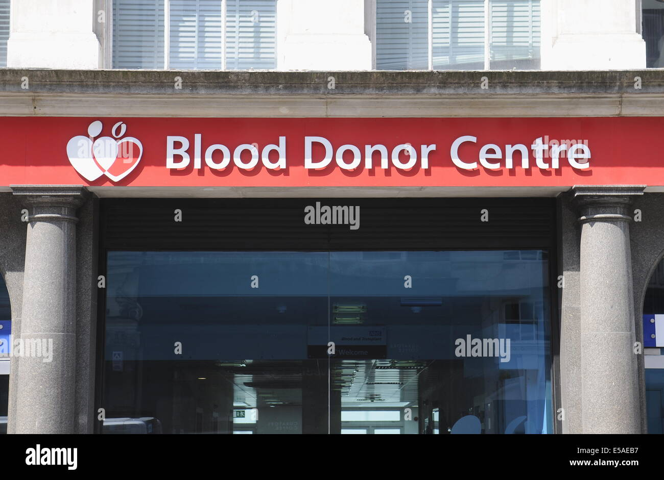 Blood Donor Centre,Margaret Street,London.UK - Stock Image
