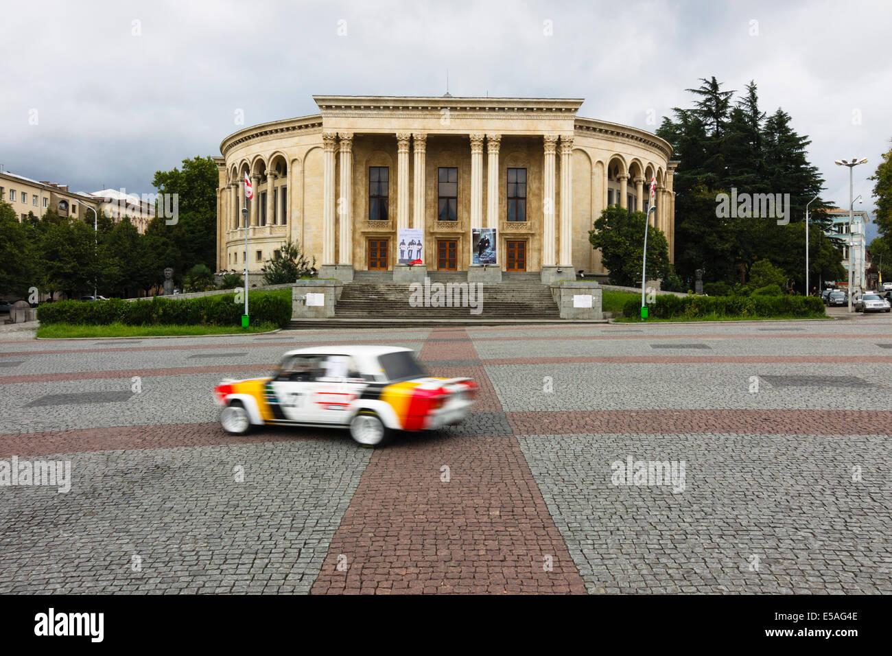 Theatre of Drama at Davit Aghmasheneblis square, Kutaisi, Georgia - Stock Image