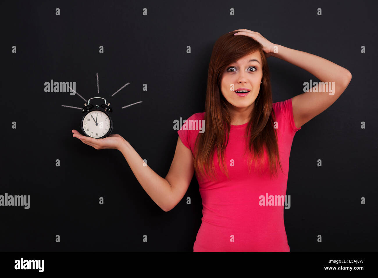 I have only five minutes!, Debica, Poland - Stock Image
