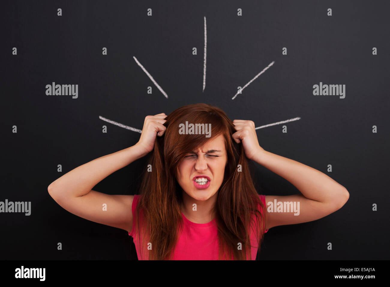 Stressful day, Debica, Poland Stock Photo