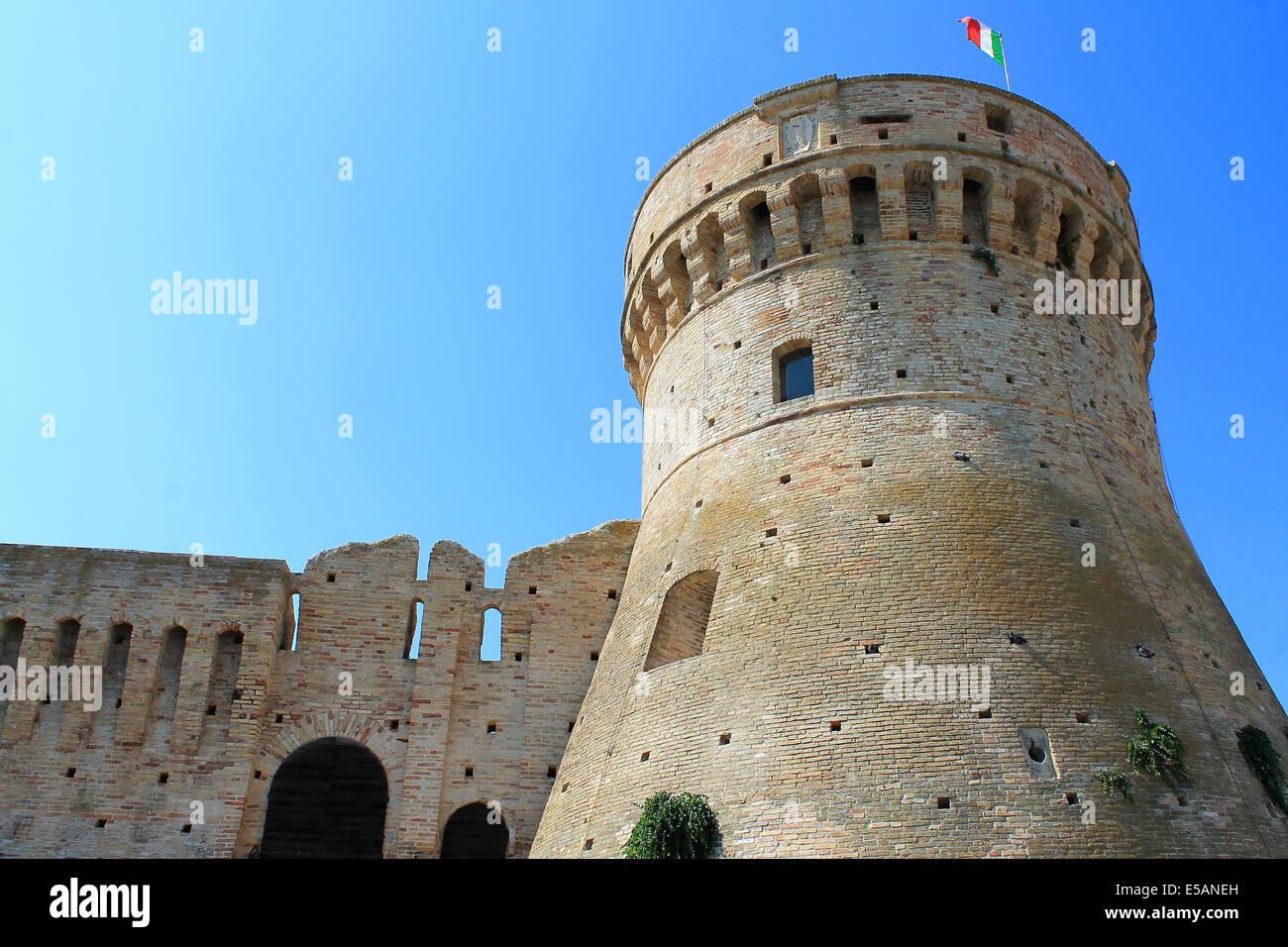 Fortress of Acquaviva Picena, Marches, Italy - Stock Image