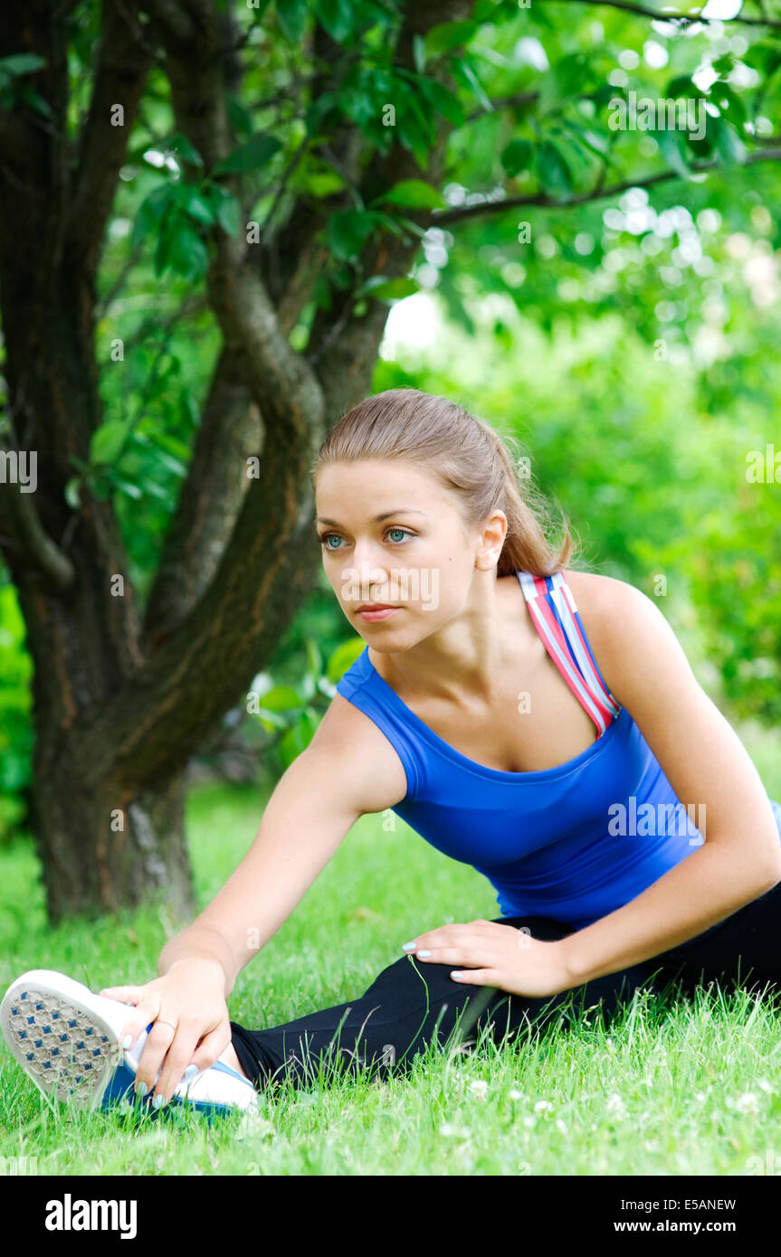 Preparation for jogging Debica, Poland - Stock Image