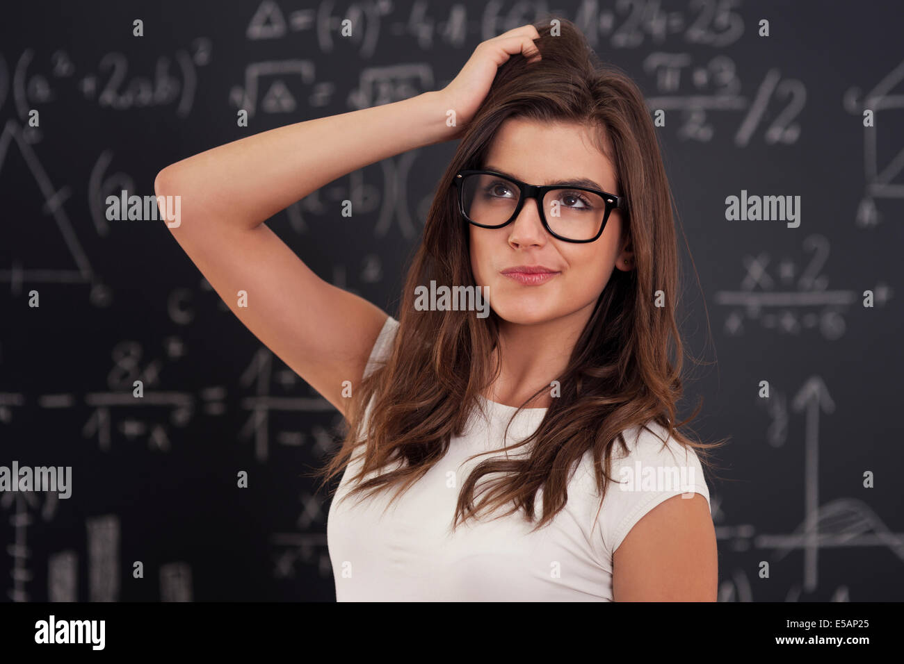 I don't know how solving mathematical equation Debica, Poland Stock Photo