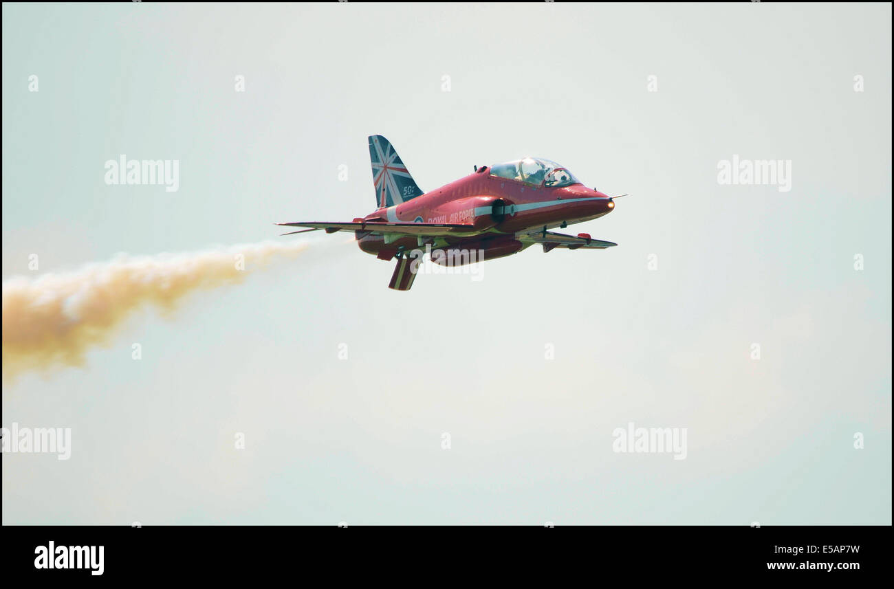 This picture is of the Royal Air Force display team The Red Arrows - Stock Image
