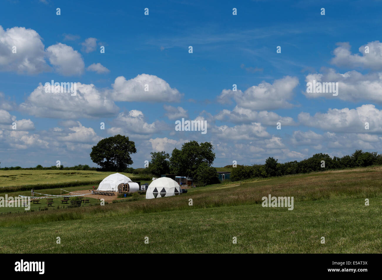 Glampsite in England - Stock Image