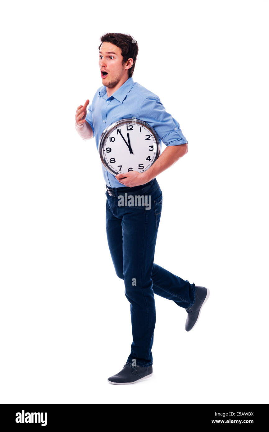 Oh my God! I'm late! I have only five minutes! Debica, Poland - Stock Image