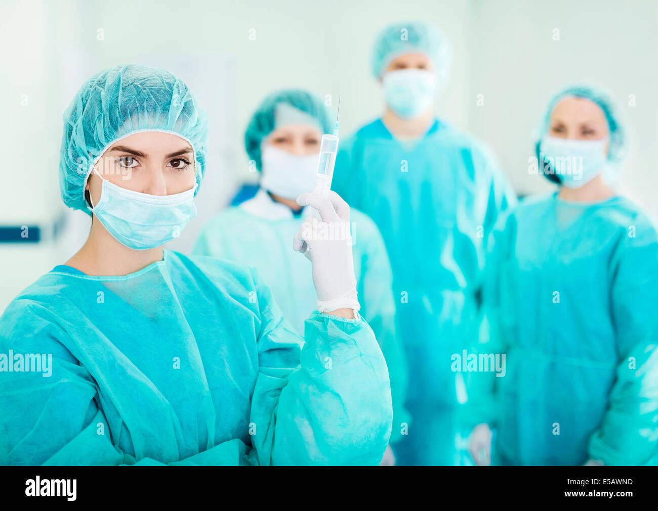 Ready for surgery Debica, Poland - Stock Image