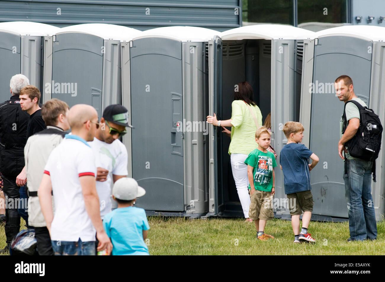 portaloo loo toilet toilets event events outdoor sanitation - Stock Image
