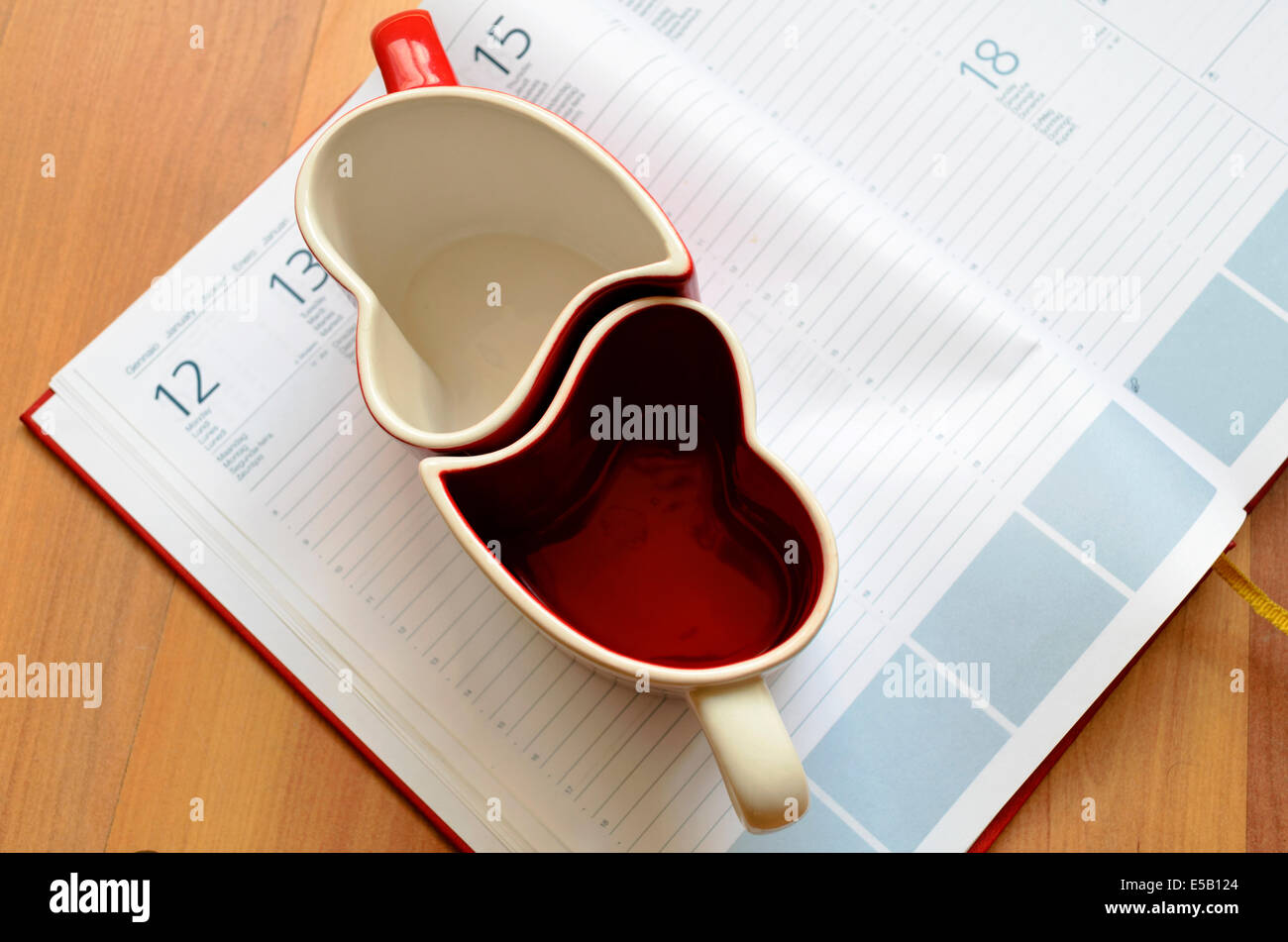 Love Business Plan Glass Concept Stock Photo