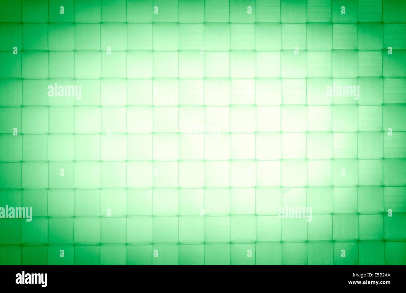 Green background with vignetting bast fiber - Stock Image