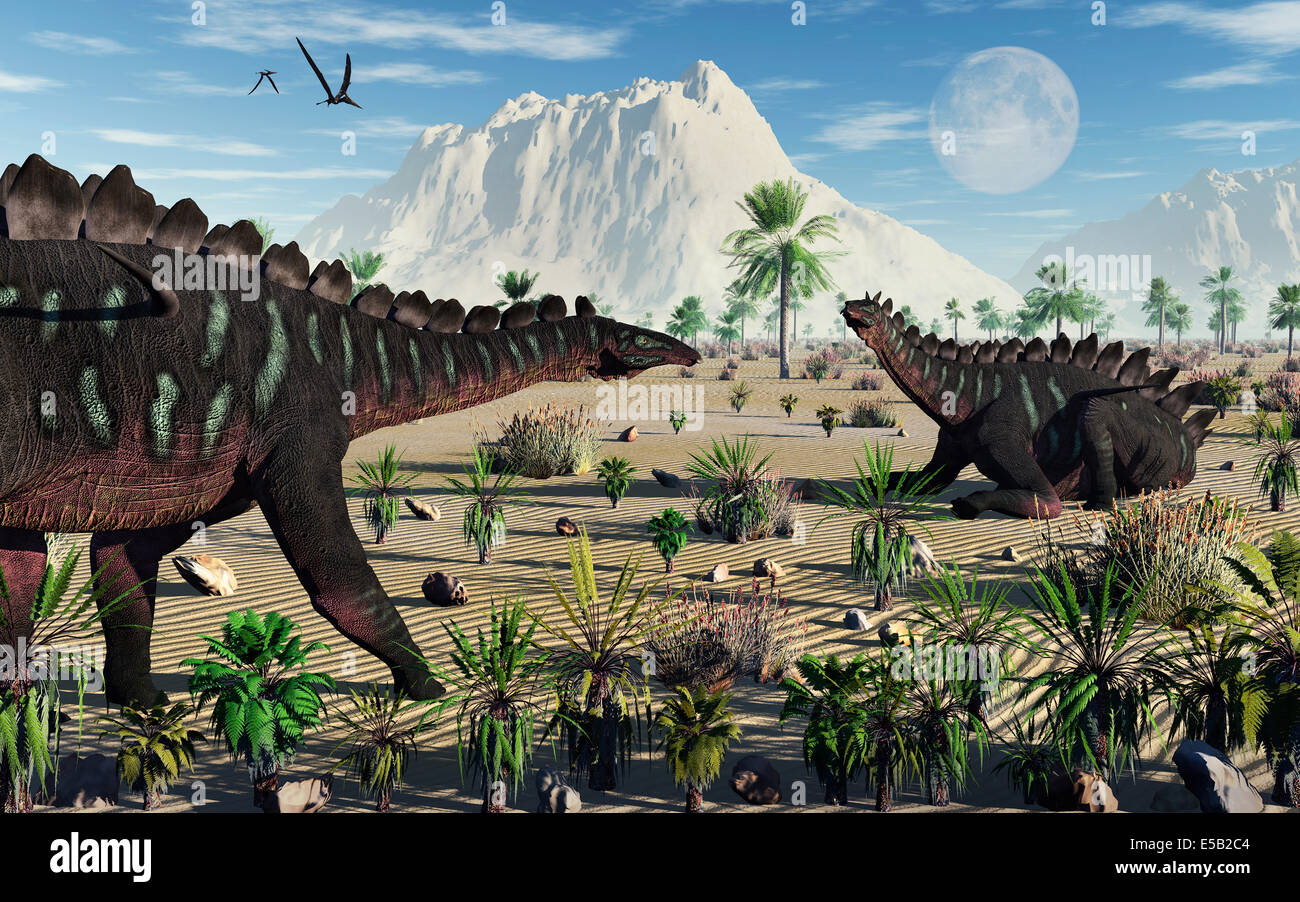 Miragaia Dinosaurs. - Stock Image