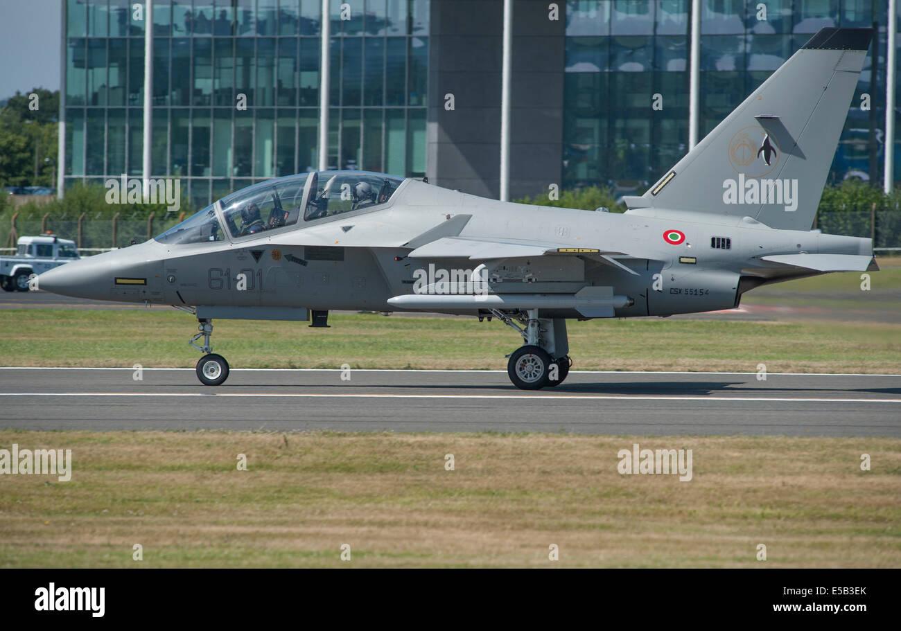Alenia Aermacchi M-346 Master, Farnborough International Airshow 2014 - Stock Image