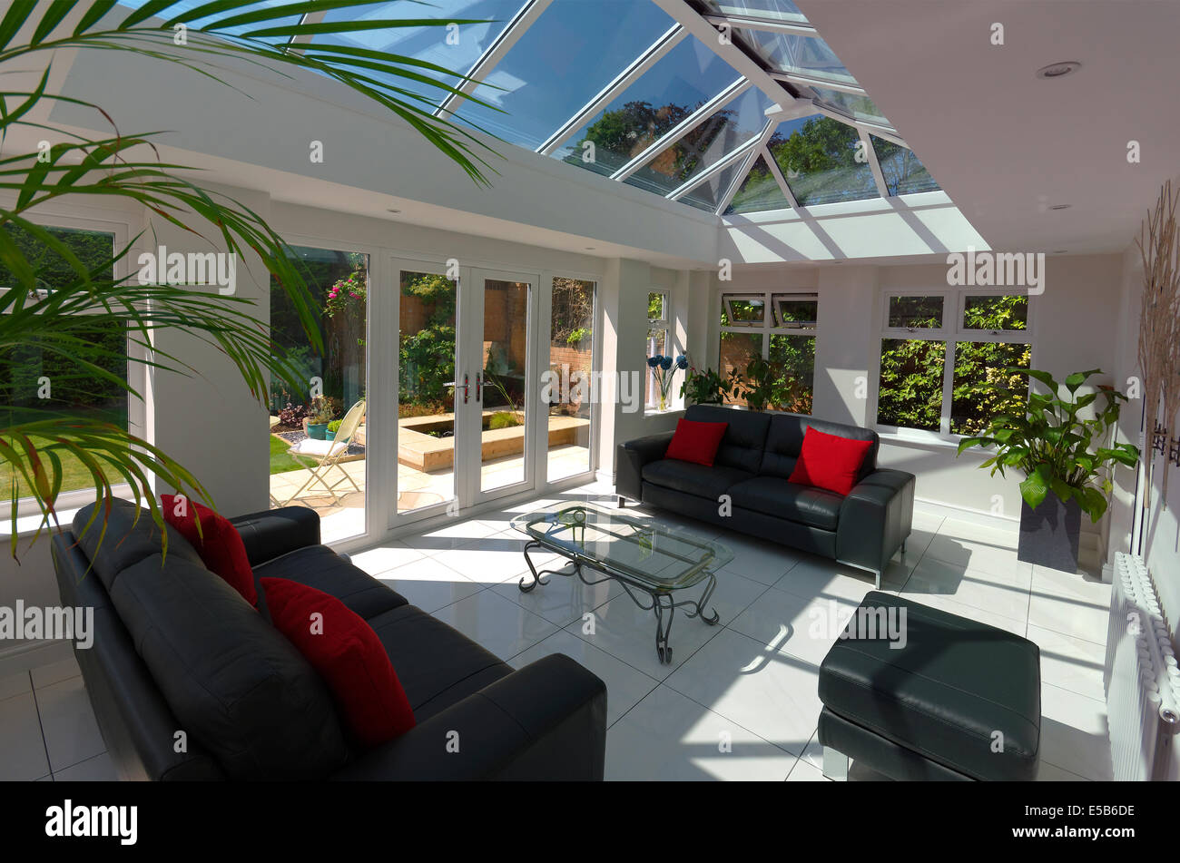 Orangery style conservatory interior home improvement - Stock Image