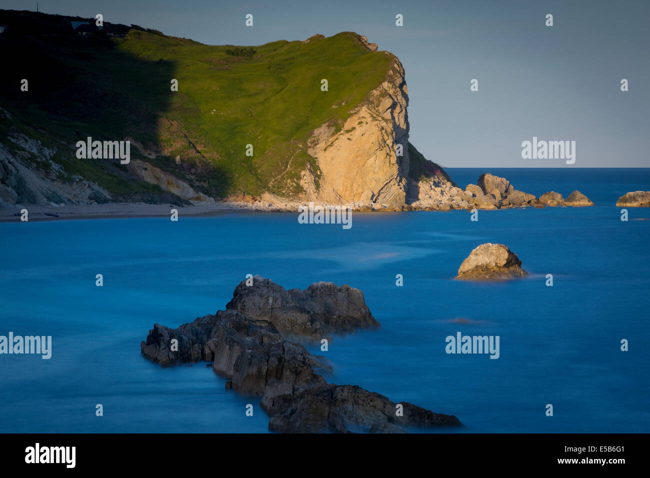 Man O' War Bay near Durdle Door, Jurassic Coast, Dorset, England - Stock Image