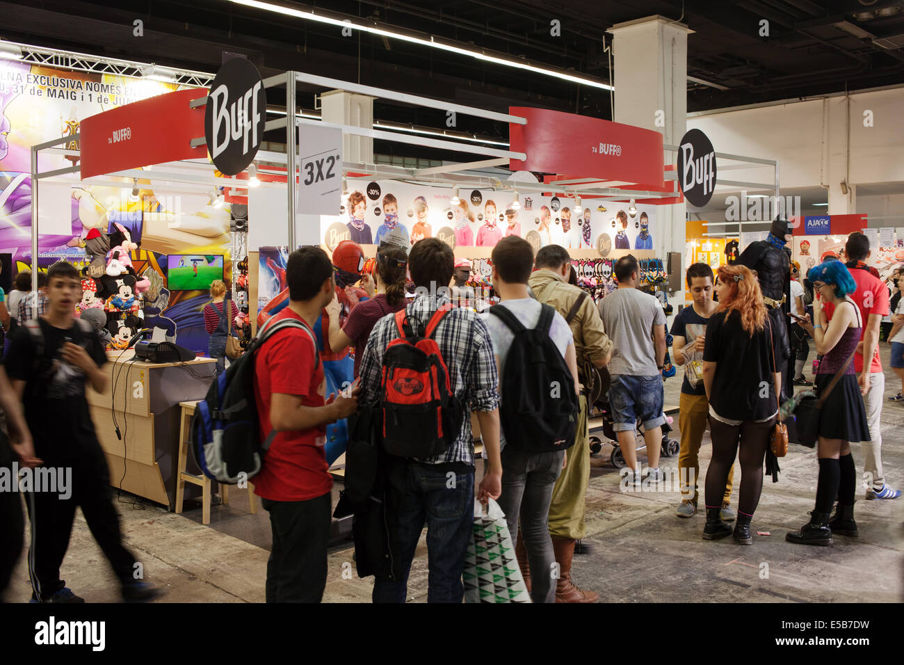 People attend Comic Con on May 17, 2014 in Barcelona, Catalonia, Spain. - Stock Image