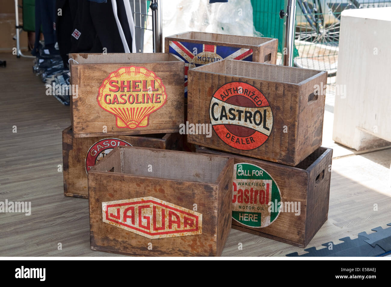 Towcesterwiltshire Uk 25th July 2014 Old Wooden Boxes For Sale