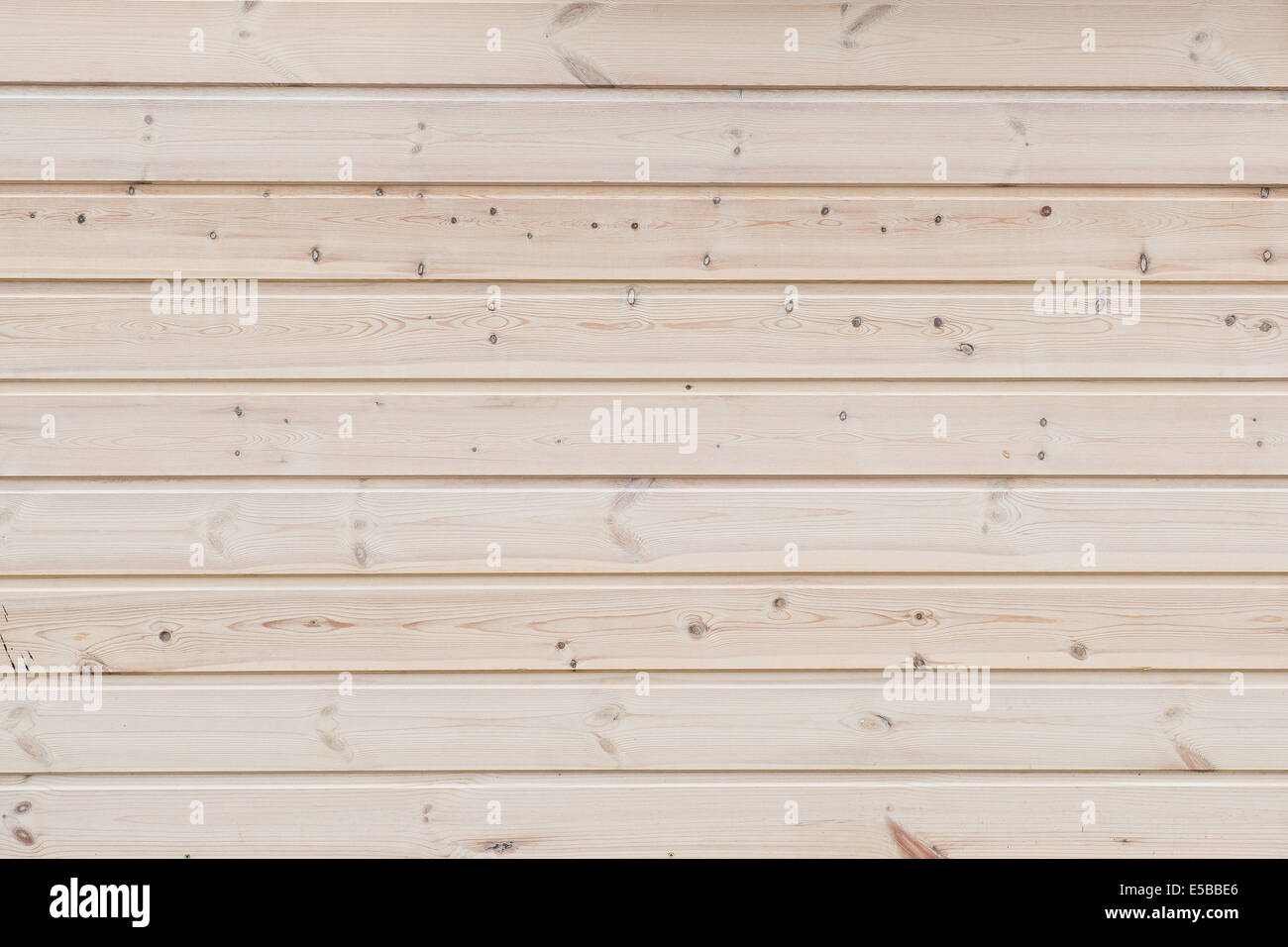 wooden background - horizontally stacked pine boards - Stock Image