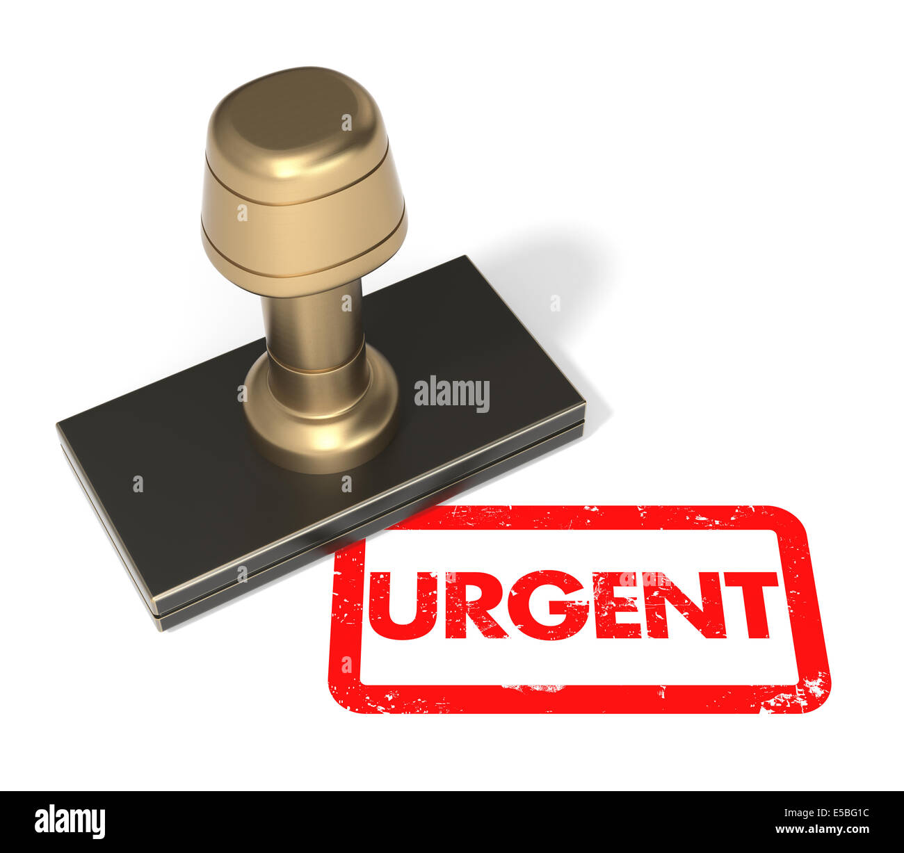 Urgent Rubber Stamp - Stock Image