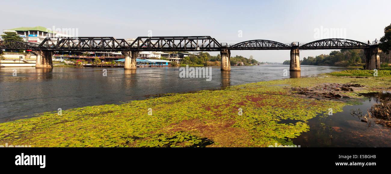 The Bridge on the River Kwai, Kanchanaburi, Thailand - Stock Image