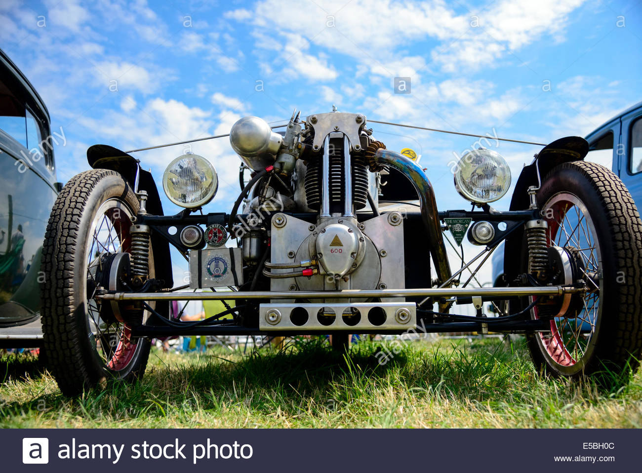 Morgan Aeriel Aero three wheeler car at Welland Rally & Show, Worcestershire, UK. Stock Photo